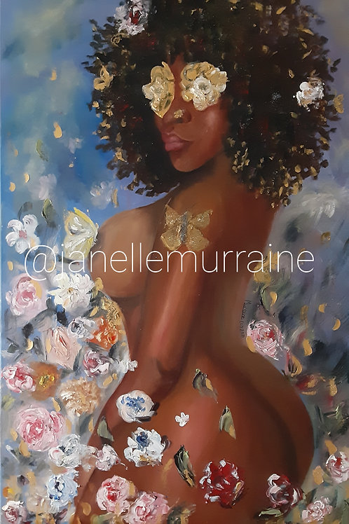 Black Beauty, 24x36 oil on canvas