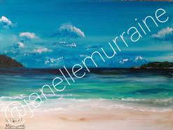 Lindburg Bay, 12x16 acrylic on canvas