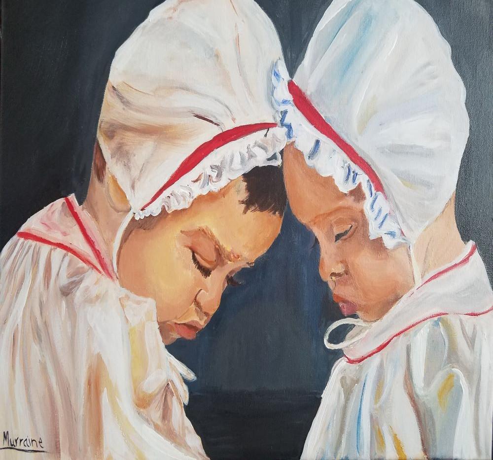 16x20 Twins Acrylic on Canvas