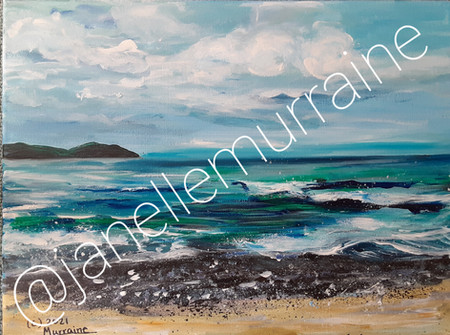 Dorothea Beach, 12x16 oil on canvas