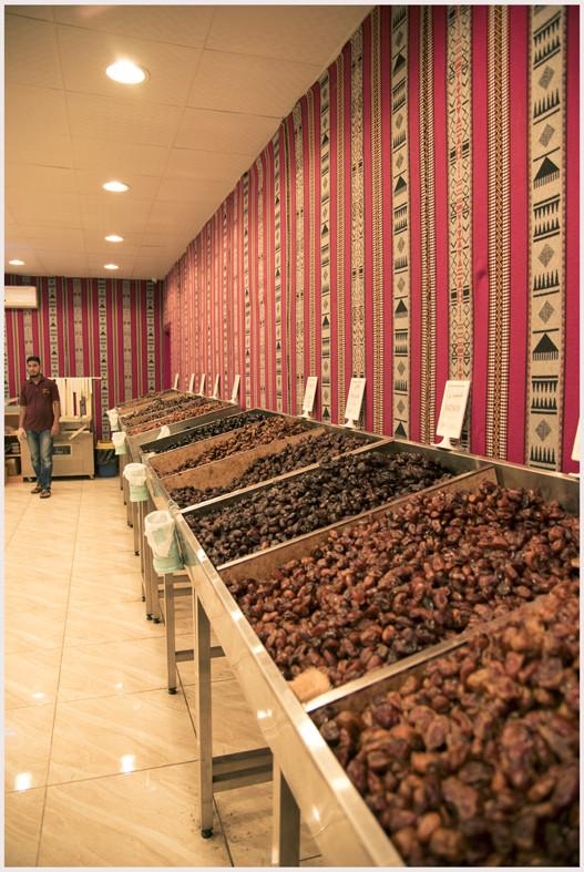Diversi tipi di datteri al mercato di Nizwa