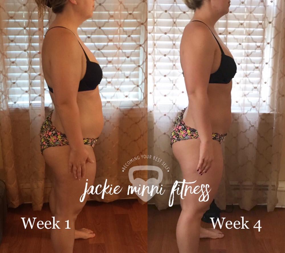 Katies 1 month progress!