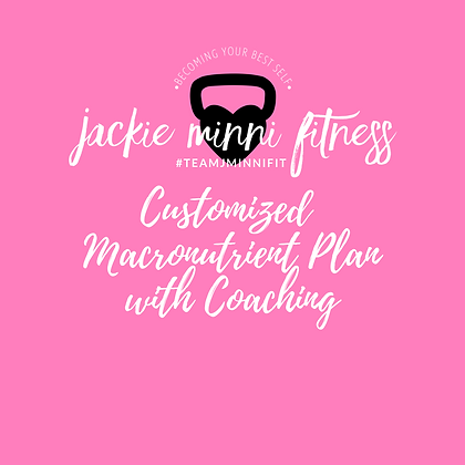 Customized Macronutrients Plan with Coaching