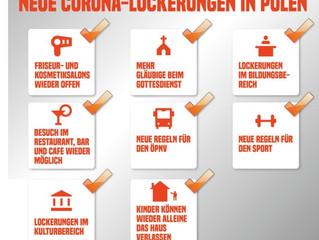Phase III der Corona-Lockerungen Polens