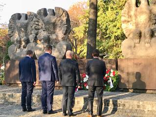 Gedenkfeier für polnische Soldaten