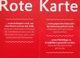 Rote Karte gegen Rechtspopulismus