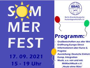 Sommerfest und 30 Jahre BBAG