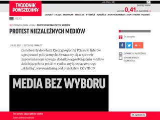 Protestbrief gegen die Medienpolitik der Regierung