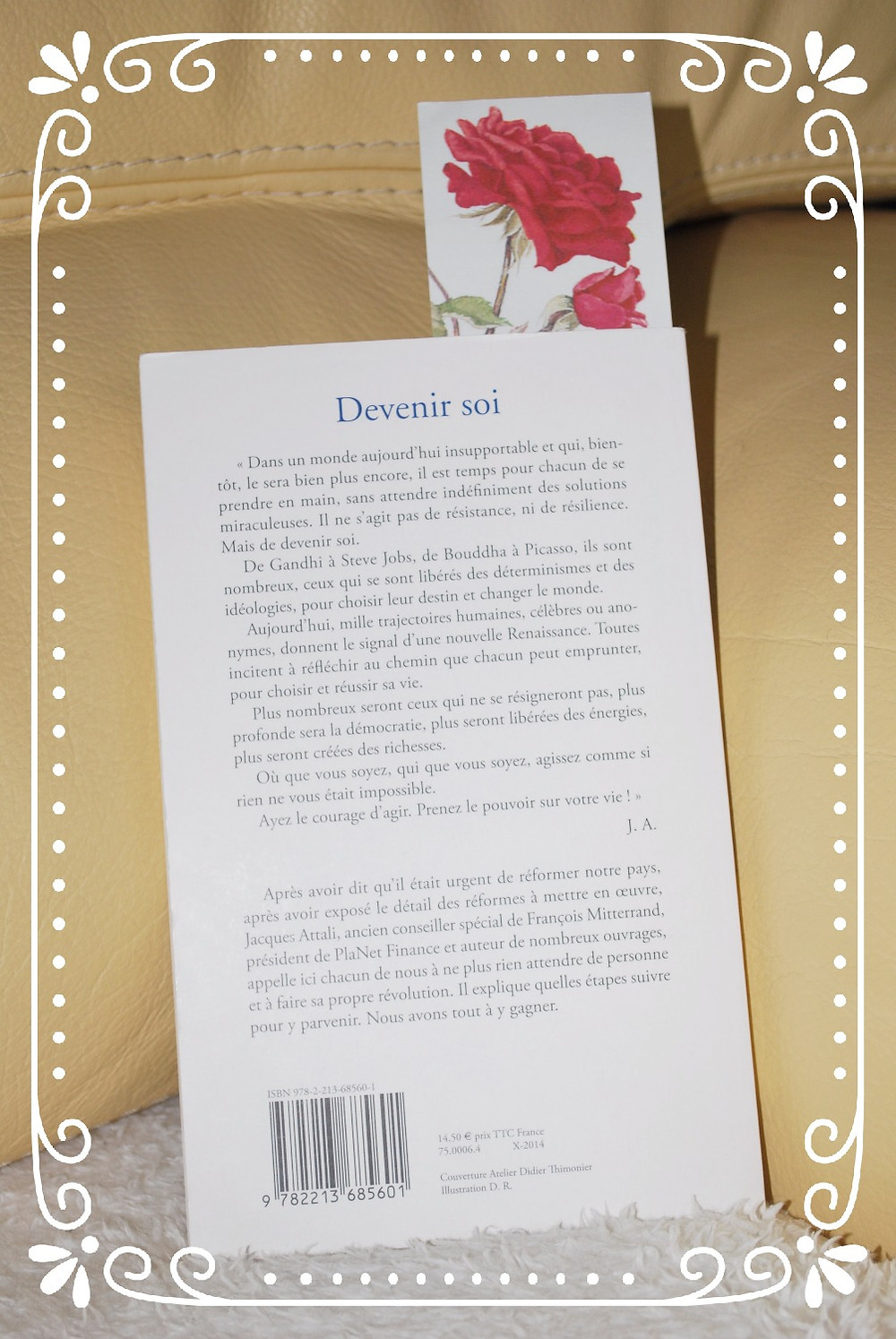 """4ème de couverture du livre """"Devenir soi"""" par Jacques Attali"""