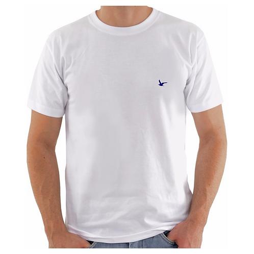 Camiseta Masculina Branca Lisa 100% Algodão