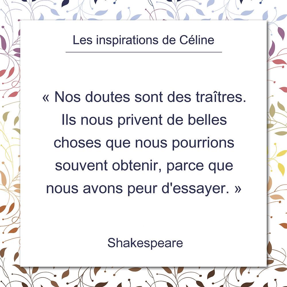 Les inspirations de Céline Kempf, citation de Goethe au sujet de la vérité élémentaire qui sous-tend tout acte de création