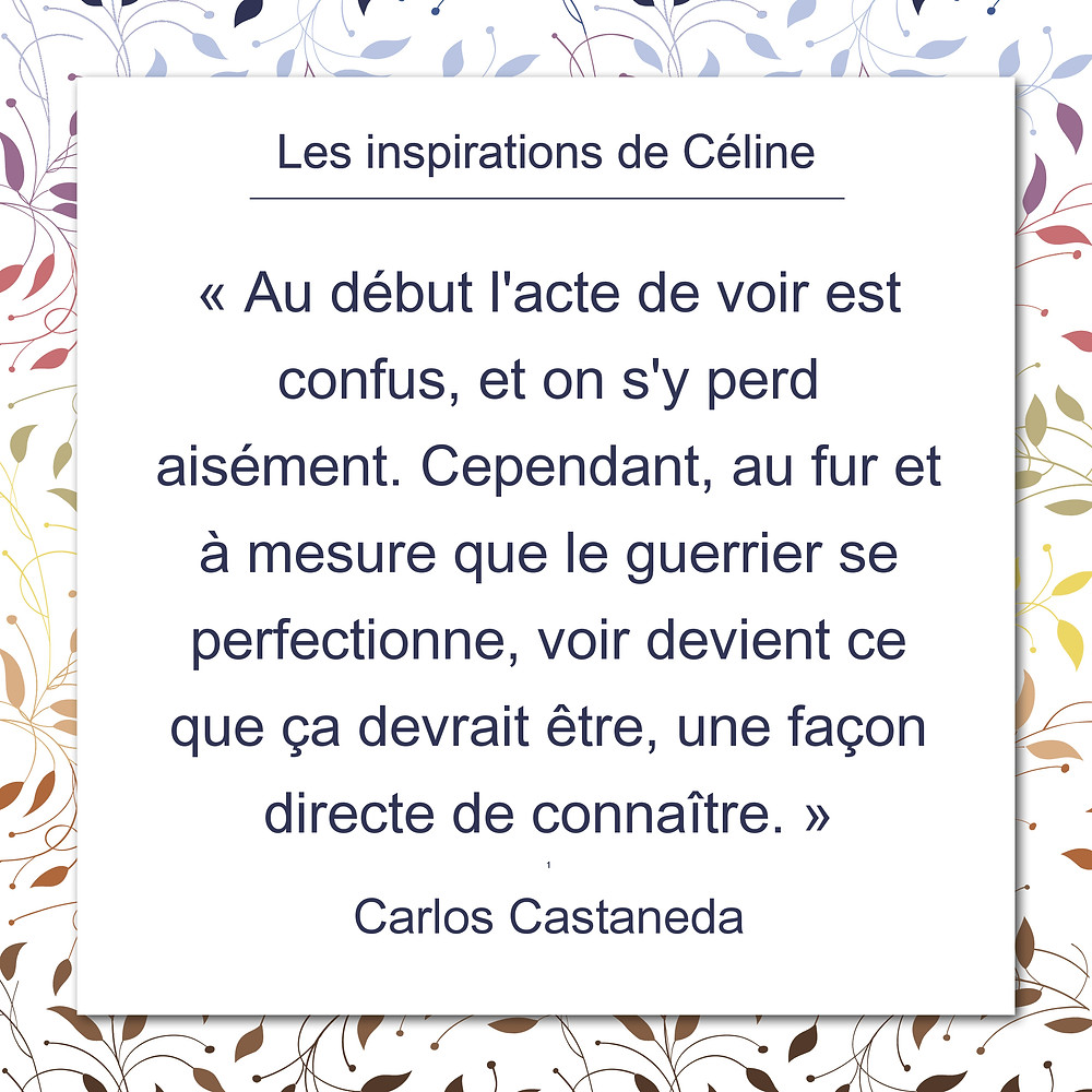 Les inspirations de Céline Kempf, citation d'Anthony de Mello au sujet de la souffrance et de la vérité.