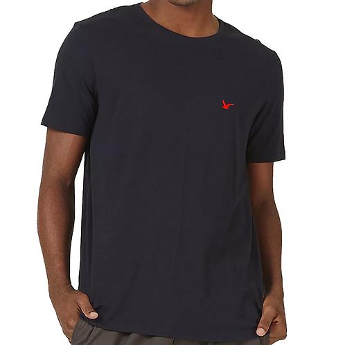 Camiseta Masculina Preta Lisa 100% Algodão
