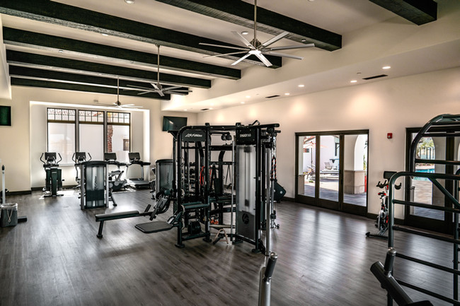 State-of-the-art Fitness Center complete with free weights, latest technology cardio machines, TRX system, kettle balls, and more.