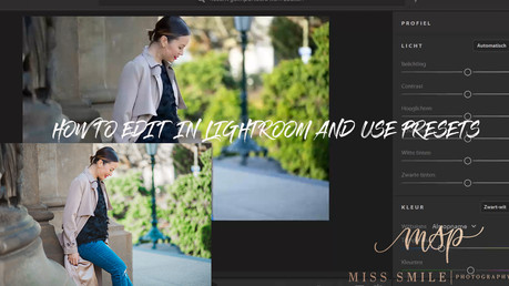 An easy way to edit pictures in Lightroom + presets