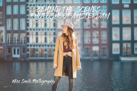 Behind the scenes- photoshoot in Amsterdam