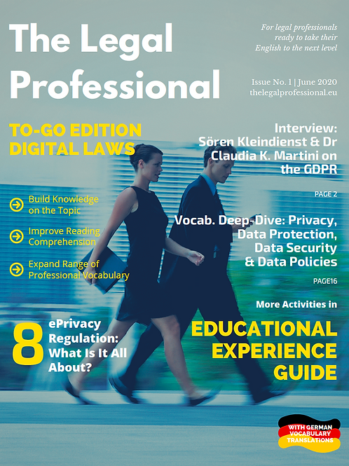 Digital Laws: GDPR, ePrivacy Regulation, Related Legal Terminology