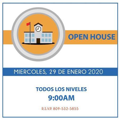 Otro OPEN HOUSE Enero 2020!