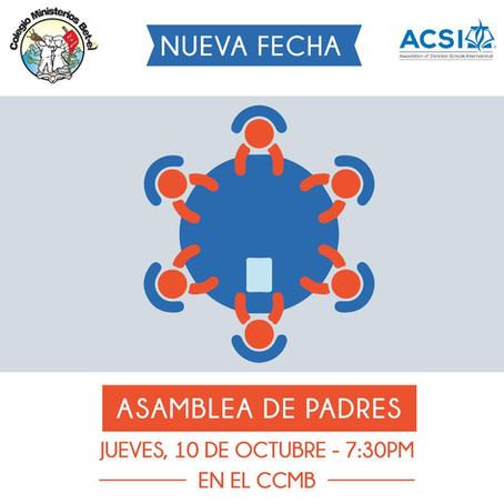 1ra Asamblea de Padres, Jueves 10-10-2019