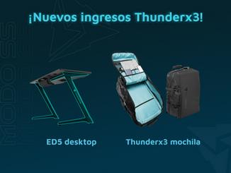 Thunderx3 - Escritorio y mochila Gamer