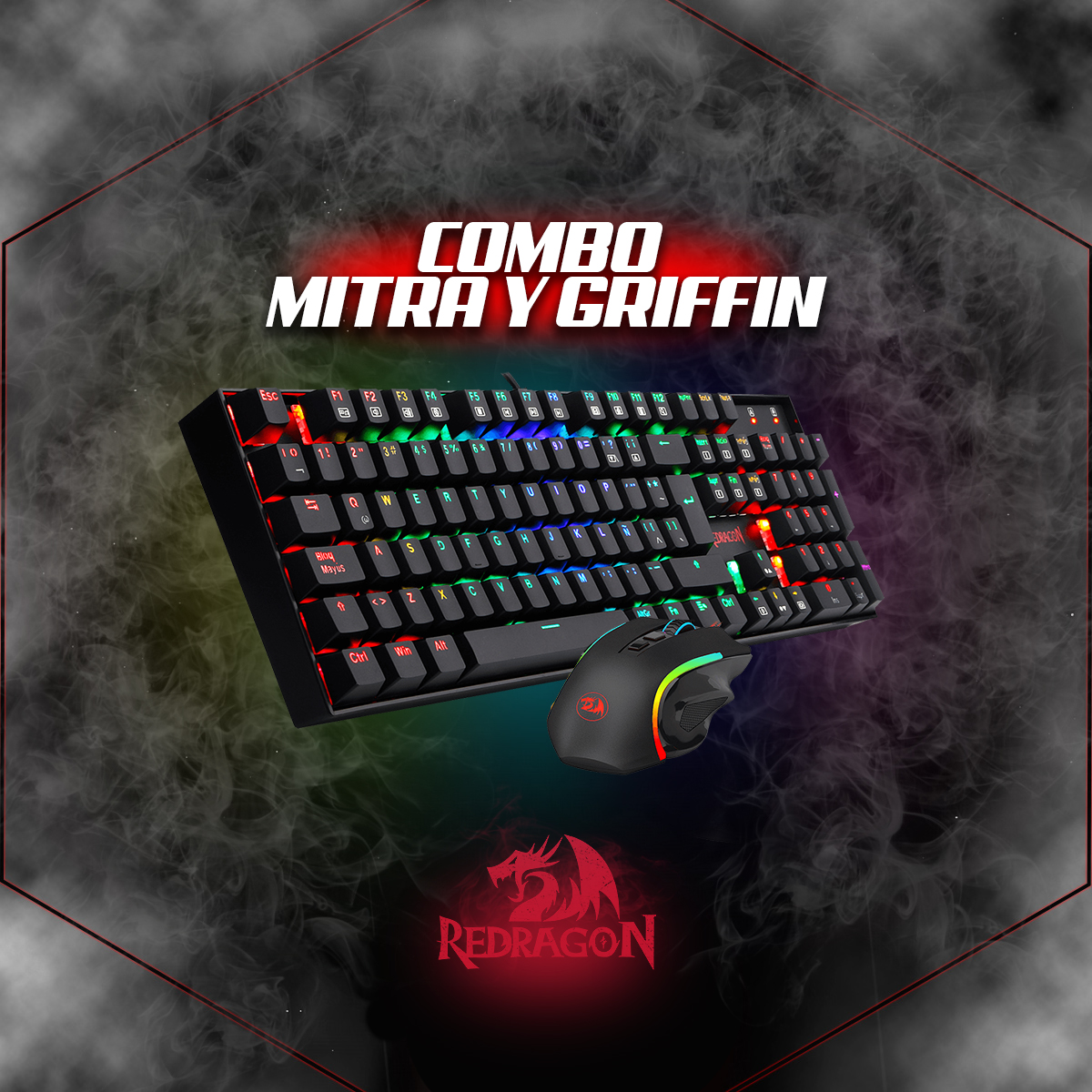 Combo MITRA GRFFIN K551RGB - BA - SP