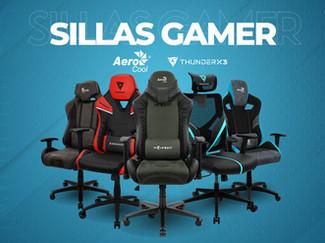 Sillas Gamer - Aerocool y ThunderX3