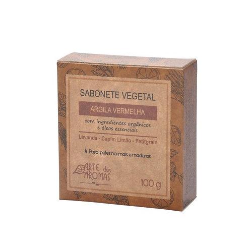 Sabonete vegano Argila Vermelha 100g - Arte dos Aromas