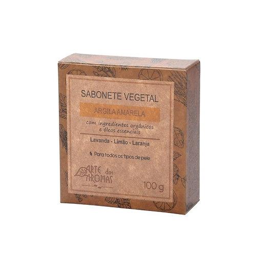 Sabonete vegano Arte dos Aromas Argila Amarela 100g
