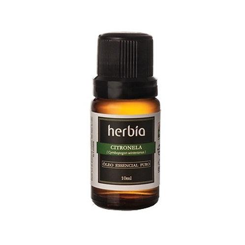 Óleo Essencial Orgânico Herbia de Citronela 10 ml