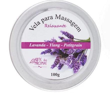 Vela Para Massagem Natural Relaxante 100g - Arte dos Aromas