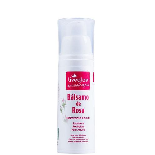 Hidratante Facial Bálsamo de Rosa 30g - Livealoe