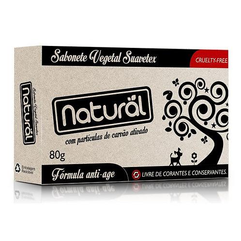 Sabonete Vegano com Carvão Ativado 80g - Natural