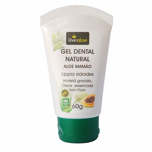 Gel Dental Natural Aloe Mamão 60g - Livealoe