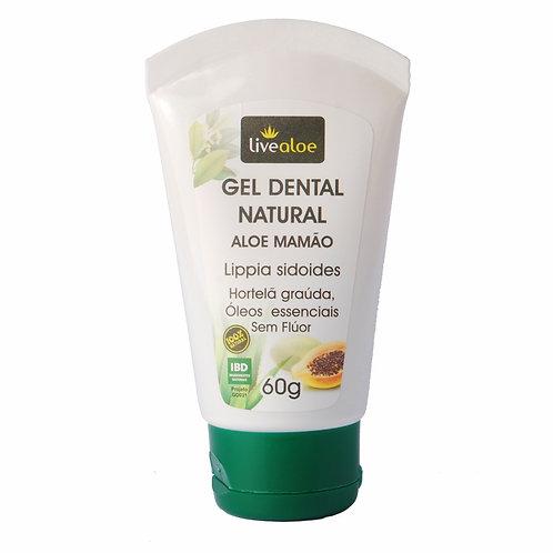 Gel Dental Natural Aloe Mamão 60g - Livealoe