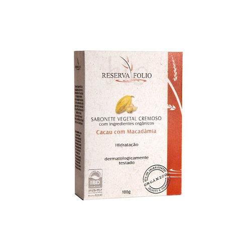 Sabonete Cremoso Natural e Vegano Macadâmia 100g - Reserva Folio