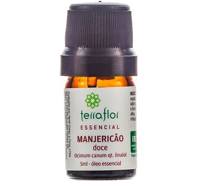Óleo Essencial Natural de Manjericão Doce Qt. Linalol 5ml – Terra Flor