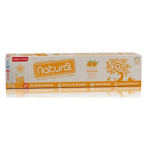 Creme Dental Natural e Vegano com Cúrcuma 80g - Natural