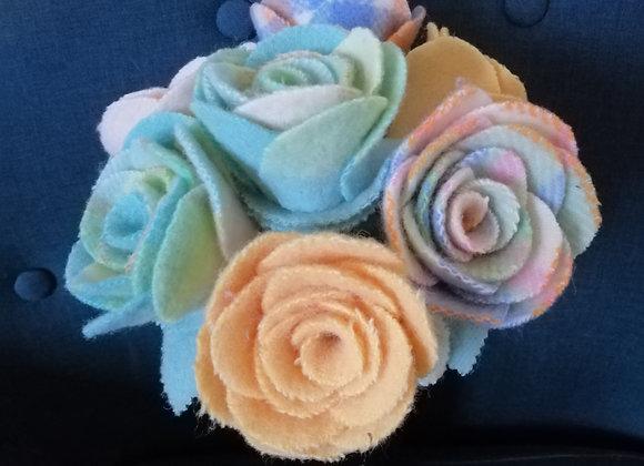 Woollen Flowers - Mixed bunch 1
