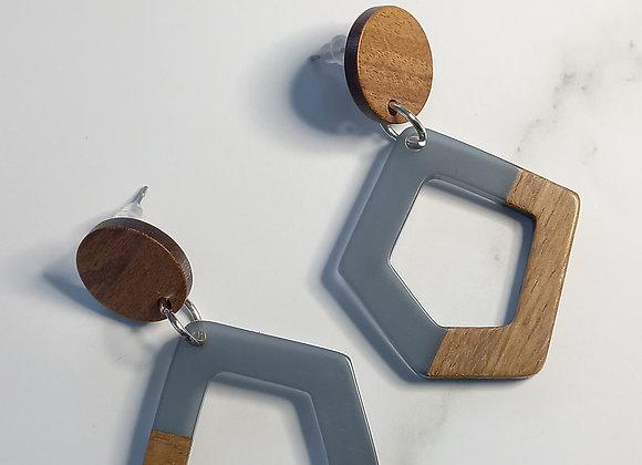 Angle - Grey Wood resin