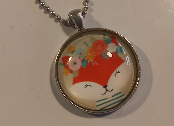 Foxy necklace  silver  setting