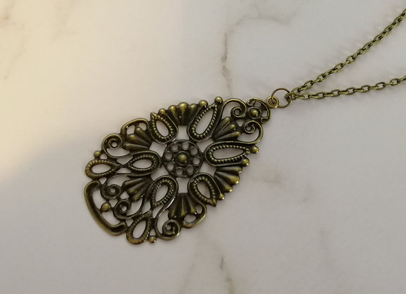 Filigree Necklace Antique - Bow
