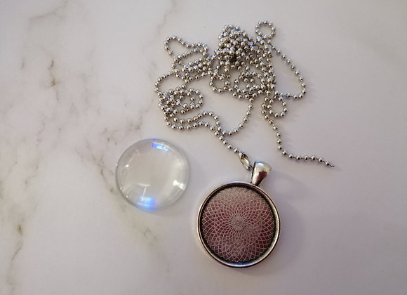Necklace Round Silver - 25mm
