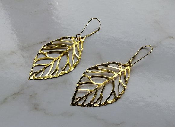 Leaf - Gold Tone