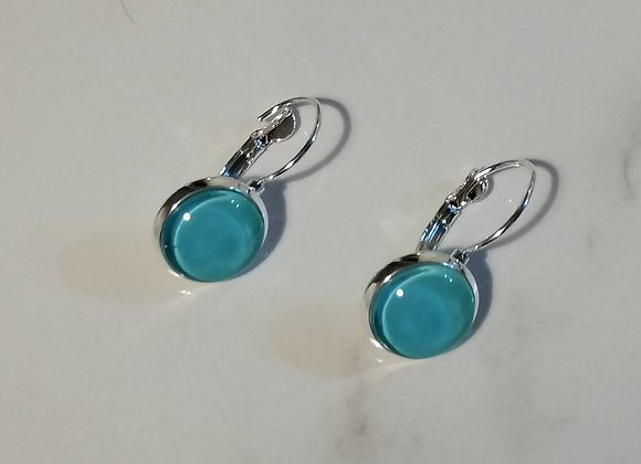 Glass Earring - Blue