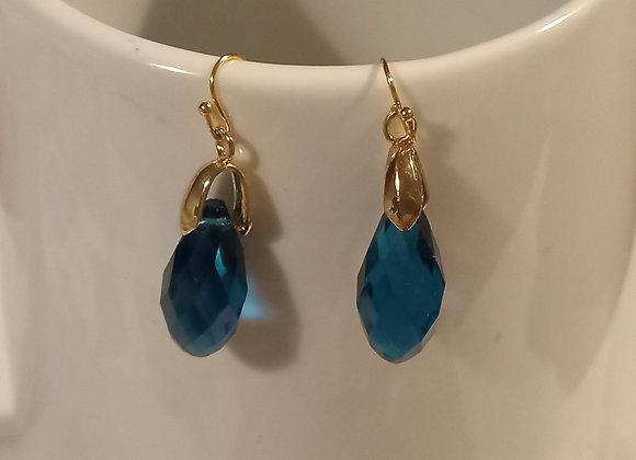 Letitia Teal Blue Gem Earrings