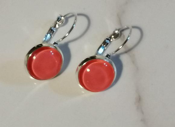 Glass Earrings - pinky peach