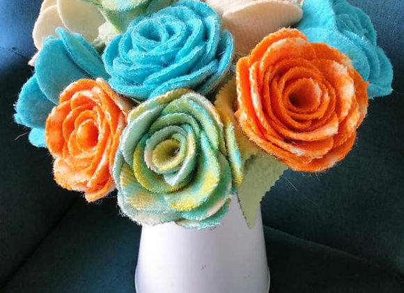 Woollen Flower Bunch - Set 3