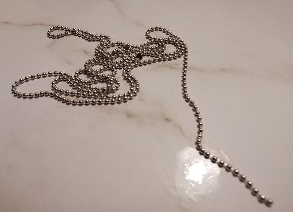 Ball Chain Silver - 2mm