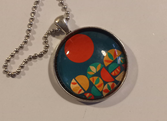 Geo scape necklace silver setting