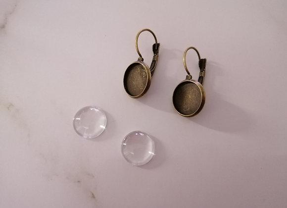 DIY Earrings Bronze - 14mm